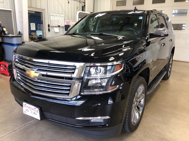 Used 2015 Chevrolet Tahoe LTZ with VIN 1GNSKCKC4FR659190 for sale in Paynesville, Minnesota